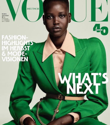 Editorials.  Adut Akech. Vogue Germany September 2019.  Images by Chris Colls.